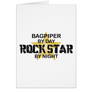 Bagpiper Rock Star by Night Greeting Card