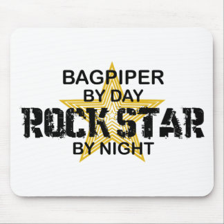 Bagpiper Rock Star by Night Mouse Mat