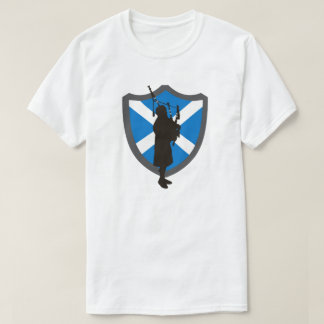 Bagpiper Shield T-Shirt