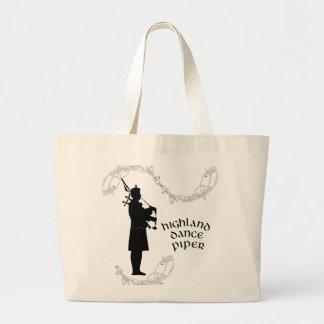 Bagpiper Silhouette Tote Bag