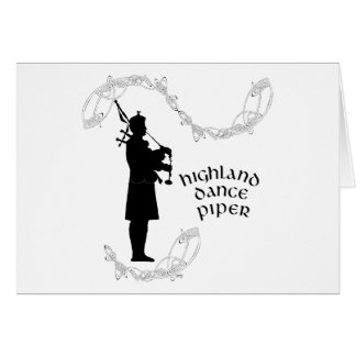Bagpiper Silhouette Card