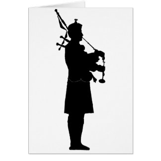 Bagpiper Silhouette Greeting Cards