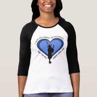 Bagpiper T-Shirt: I left My Heart In Scotland... T-Shirt
