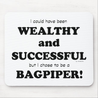 Bagpiper Wealthy & Successful Mouse Pads
