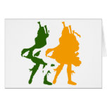 Bagpipers Of Ireland Greeting Card