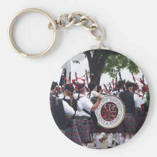Bagpipes and Drums Keychain