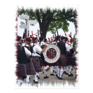 Bagpipes and Drums Postcard