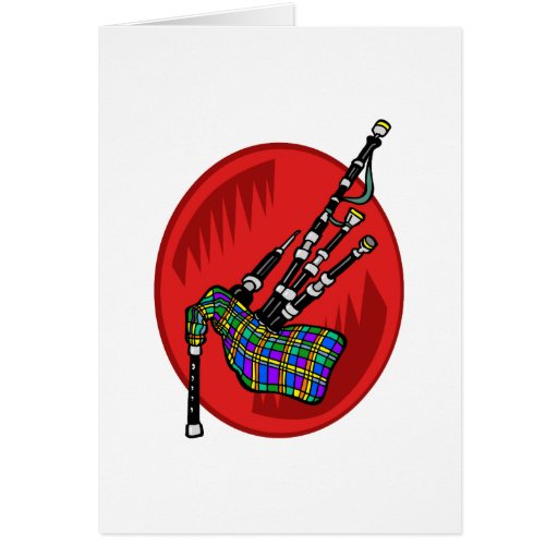 Bagpipes Greeting Cards