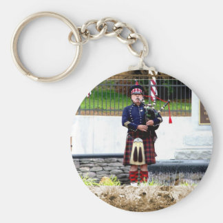 Bagpipes Basic Round Button Keychain