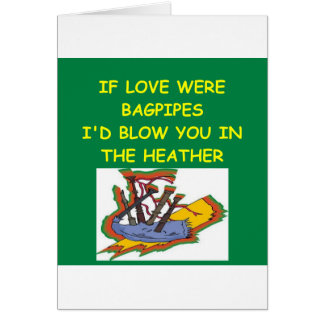 BAGPIPES lover Greeting Card