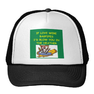 BAGPIPES lover Mesh Hat