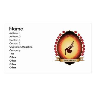 Bagpipes Mandorla Business Cards