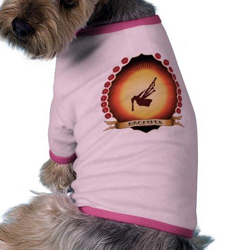 Bagpipes Mandorla Doggie Tee Shirt