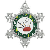 Bagpipes Music Instrument Christmas Ornaments