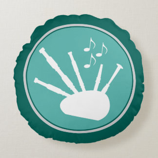 Bagpipes Musician Silhouette Musical Pillow
