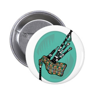 bagpipes pinback button