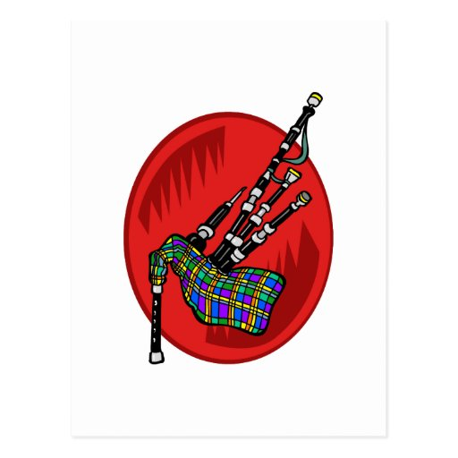 Bagpipes Post Card