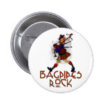 Bagpipes Rock! 2 Inch Round Button