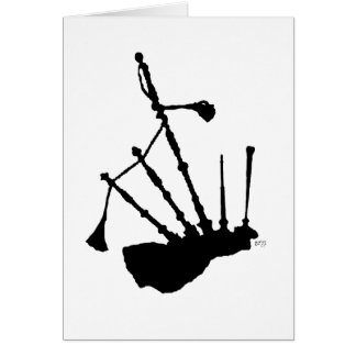 Bagpipes Silhouette Greeting Cards