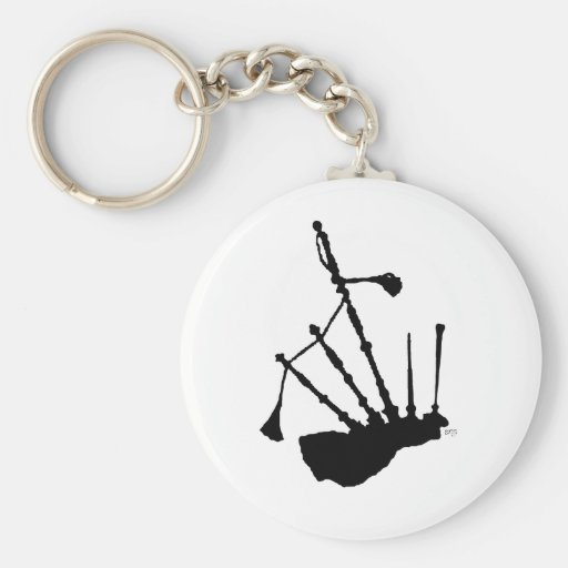 Bagpipes Silhouette Keychains