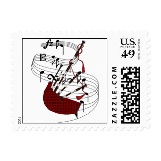 Bagpipes Stamp