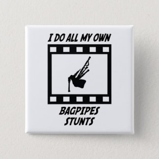 Bagpipes Stunts Pinback Button