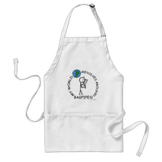 Bagpipes - World Revolves Around Adult Apron