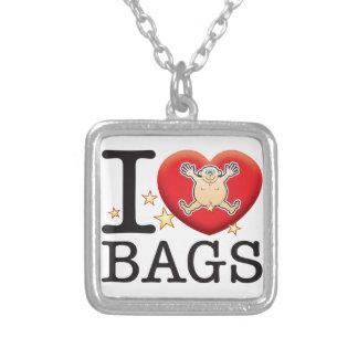 Bags Love Man Square Pendant Necklace