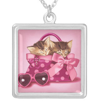 Bags of Cute Square Pendant Necklace