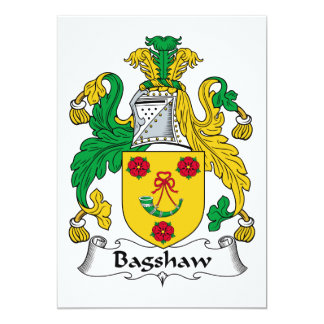 Bagshaw Family Crest Card
