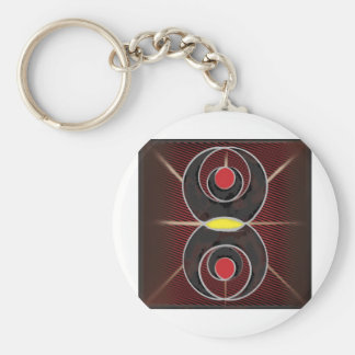 Bagua Abstract Keychain