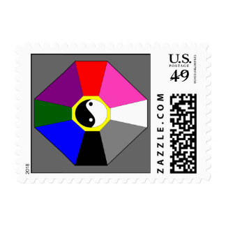 Bagua - grey - postage stamps