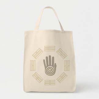 Bagua with Spiral Palm Grocery Tote
