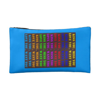 Baguette Bag, Love You, Kiss You, Miss You, Want Y Makeup Bag