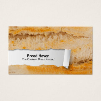 Baguette Customizable Food Closeup Business Card
