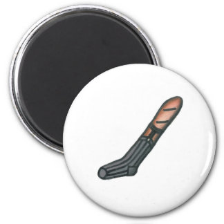 Baguette in a Dress Sock 2 Inch Round Magnet