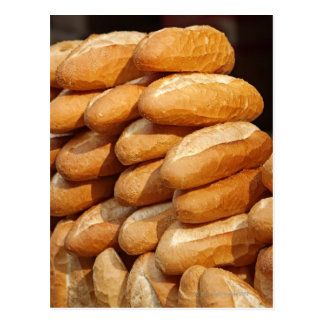 Baguette, pan, para la venta en calle del vendedor postal
