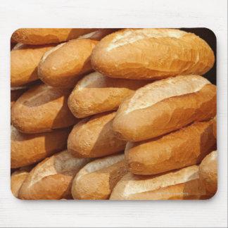 Baguette, pan, para la venta en calle del vendedor tapete de ratones