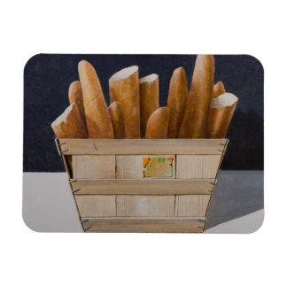 Baguettes 2010 rectangular photo magnet