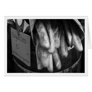 Baguettes en el mercado callejero de Burough Tarjeta De Felicitación