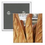 Baguettes frescos, calientes pin