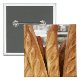 Baguettes frescos, calientes pin cuadrado