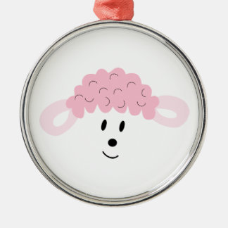 BAH! BAH! Lamb Face Metal Ornament