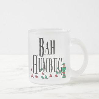 Bah Bumbug Frosted Glass Coffee Mug