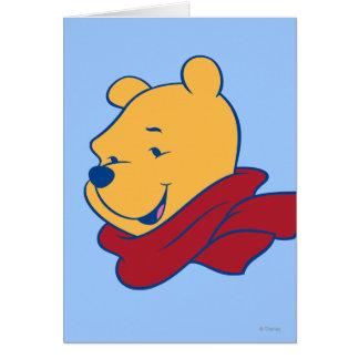 Bah en bufanda roja tarjeta de felicitación