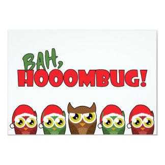 """Bah Hooombug"" 3.5x5 Paper Invitation Card"