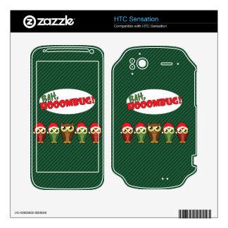 """""""Bah Hooombug"""" Decals For HTC Sensation"""