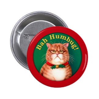 Bah Humbug 2 Inch Round Button