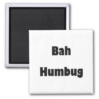 Bah Humbug 2 Inch Square Magnet
