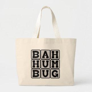 Bah Humbug, Anti-Christmas Sentiment Canvas Bags